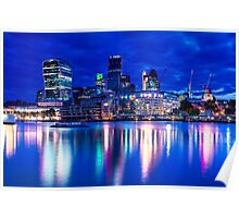 Glowing City Of London Poster