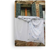 clothes hanging Canvas Print