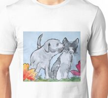 Good Friends 3 - cat and dog Unisex T-Shirt