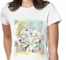 Midtown Houston Souvenir Map Womens Fitted T-Shirt