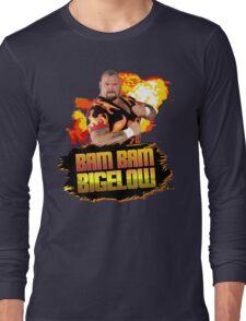 Bam Bam Bigelow Fireball Design Long Sleeve T-Shirt