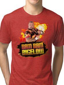 Bam Bam Bigelow Fireball Design Tri-blend T-Shirt