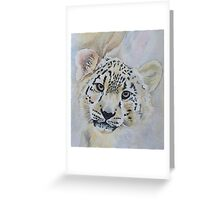 Beautiful Snow Leopard Greeting Card
