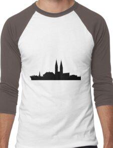Bremen skyline Men's Baseball ¾ T-Shirt