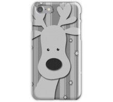 Gray elegant reindeer  iPhone Case/Skin