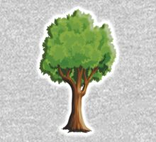 Tree, Natural, illustration, One Piece - Long Sleeve