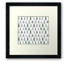 evergreen tree pattern Framed Print