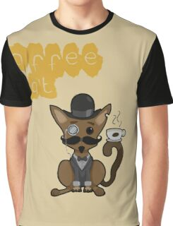 Coffee Cat Graphic T-Shirt