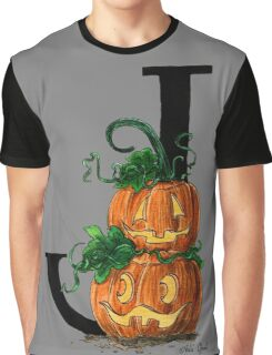 Jack-o-lantern Watercolor Painting Graphic T-Shirt