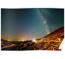 Milky way in the sky of Croatia Poster