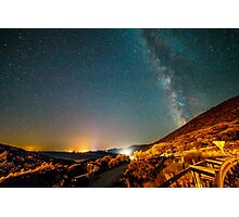 Milky way in the sky of Croatia Photographic Print
