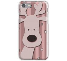 Pink elegant reindeer design iPhone Case/Skin
