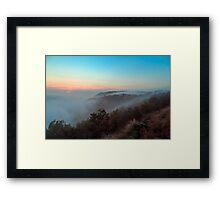 Foggy autumn evening in Val Rosandra Framed Print
