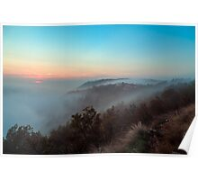 Foggy autumn evening in Val Rosandra Poster