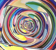 Spinning Colors Abstract by Phil Perkins