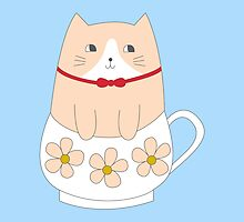 TEACUP KITTY by i-made-a-thing