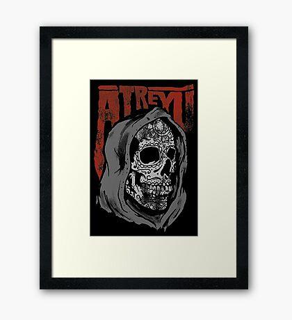 ATREYU SKULL Framed Print