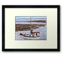 Returning from the sea. Framed Print