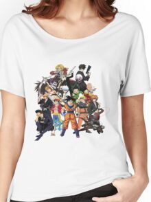 All Anime Heroes Manga Women's Relaxed Fit T-Shirt