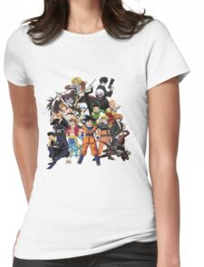 All Anime Heroes Manga Womens Fitted T-Shirt