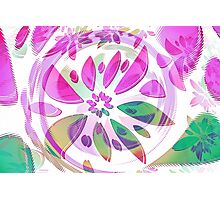 abstract flower Photographic Print