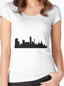 Liverpool skyline Women's Fitted Scoop T-Shirt