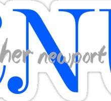 CNU curly Sticker