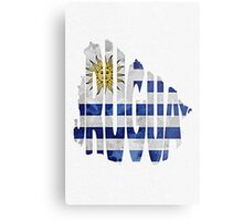 Uruguay Typographic Map Flag Metal Print