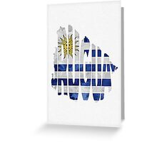 Uruguay Typographic Map Flag Greeting Card