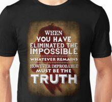 Sherlock Holmes Strand Magazine Quote Unisex T-Shirt