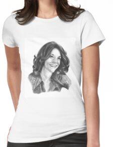 Karen Carpenter Portrait Womens Fitted T-Shirt