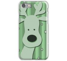 Green elegant reindeer iPhone Case/Skin