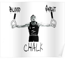 BLOOD SWEAT AND CHALK  Poster