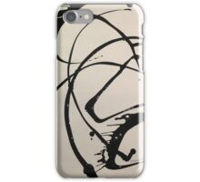Contemporary Abstract in Black & Off White iPhone Case/Skin