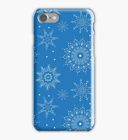 Seamless vector snowflake pattern. Perfect for printing on fabric or paper. iPhone Case/Skin