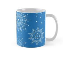 Seamless vector snowflake pattern. Perfect for printing on fabric or paper. Mug