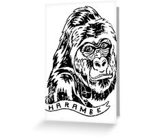 harambe Greeting Card