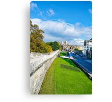 York Walls and Minster Canvas Print