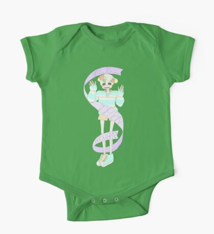 Spooky cute skeleton One Piece - Short Sleeve