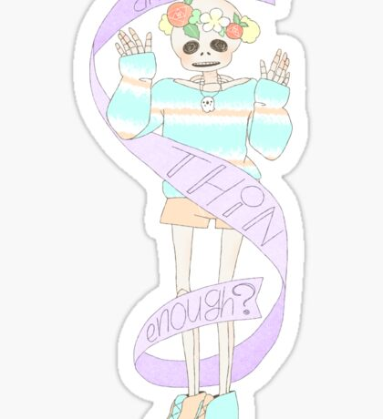 Spooky cute skeleton Sticker