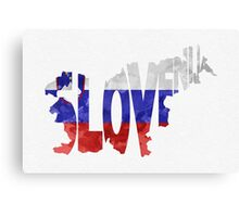 Slovenia Typographic Map Flag Canvas Print