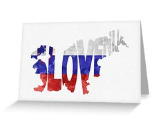 Slovenia Typographic Map Flag Greeting Card