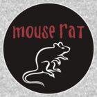 Mouse Rat band logo black background by vagata