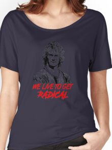 patrick swayze - backoff warchild Women's Relaxed Fit T-Shirt