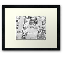Wizarding Newspaper during Coffee (black&white) Framed Print