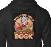 Evil Dead read a book.... Zipped Hoodie