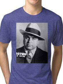 Al Capone Mafia Portrait Tri-blend T-Shirt