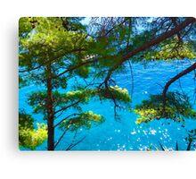 Trees & Ocean Canvas Print