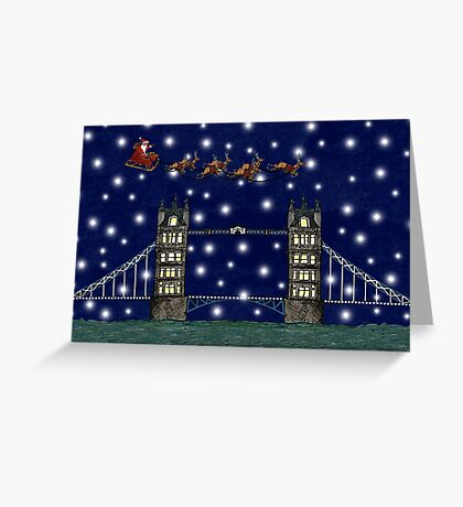 A London Christmas Eve Greeting Card