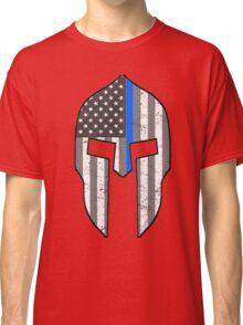 American Spartan Thin Blue Line  Classic T-Shirt